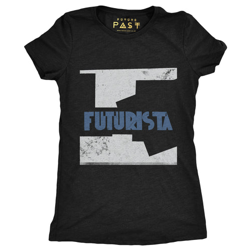Futurista Women's T-Shirt / Black - Future Past Clothing