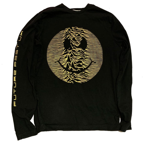 Limited Edition Gold Acid Pulsar Long Sleeve T-Shirt / Black - Future Past Clothing