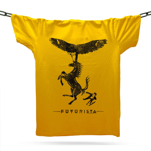 Flight Of Fantasy T-Shirt / Gold - Future Past Clothing