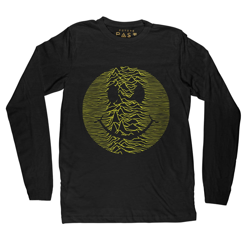 Classic Acid Pulsar Long Sleeve T-Shirt / Black - Future Past Clothing
