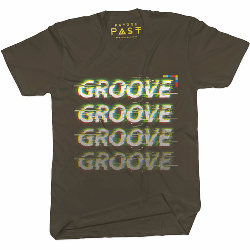 Groove Is In The  T-Shirt / Khaki - Future Past Clothing