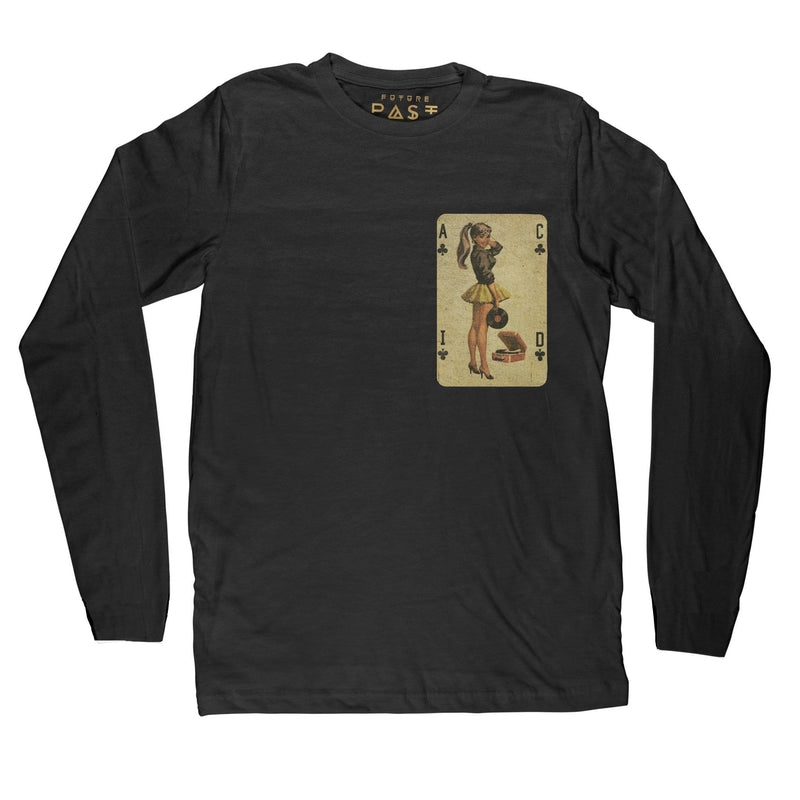 Acid House Pinup Long Sleeve T-Shirt / Black - Future Past Clothing