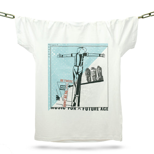 Music For A Future Age T-Shirt / White - Future Past Clothing