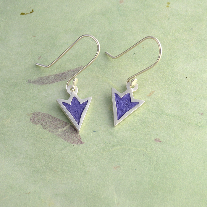 Ithuriel's Spear Sterling Silver and Concrete Earrings