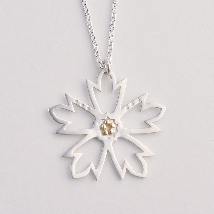 Woodland Star Gold and Silver Necklace