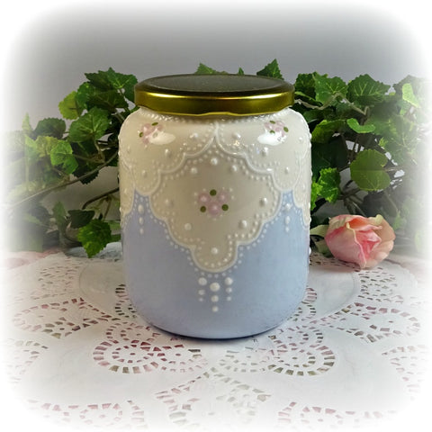Lacey Blue Jar
