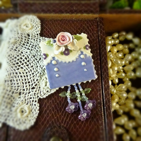 Pretty in Periwinkle and Plum Pin