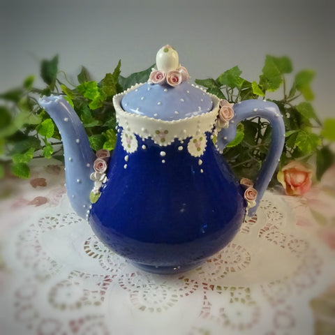 Romantic Blues Teapot