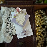 Duchess Lace and Roses Pin
