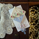 Dainty Blue and Pink Lace Pin