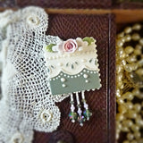 Green Eyelet Lace Pin
