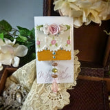 Pink and Gold Lace Pin