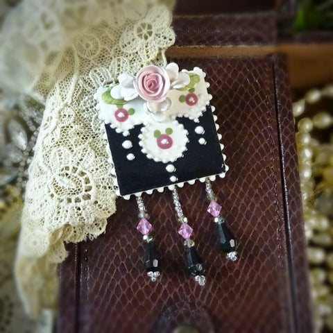 Romance in Pink and Black Pin