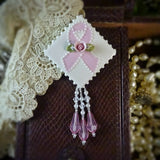Pink Hope and Support Pin for Breast Cancer
