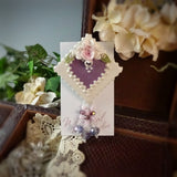 Purple Heart Rose Pin