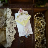 Dainty Yellow Lace Rose Pin