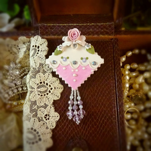 Sweet and Delightful Lace Rose Pin