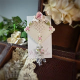 Pink Roses and Victorian Lace Pin