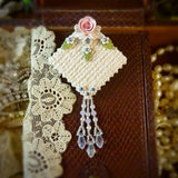 Elegant White Lace and Pink Rose Pin