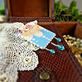 Aqua Blue Lace Pin