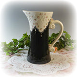 Pink and Black Lace Pitcher