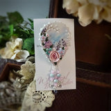 Springtime Blue Watercolor Rose Pin
