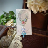 Pastel Tear Drop Watercolor Pin