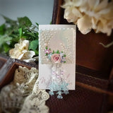Gossamer Rose Watercolor Pin