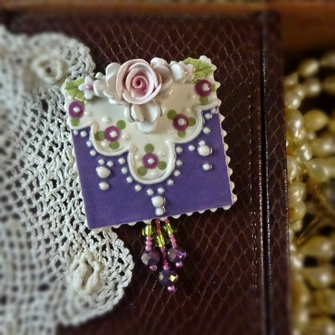Purple Regal Rose Pin