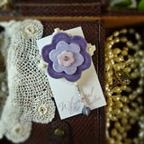 Purple Statement Flower Pin