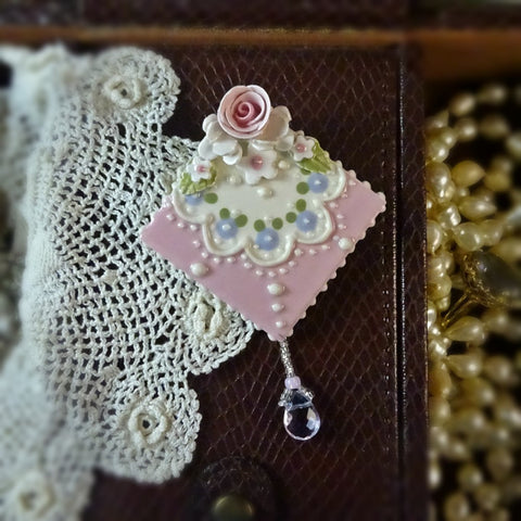 Cheeky Pink and Rose Lace Pin