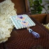 Pastel Art Deco Pin