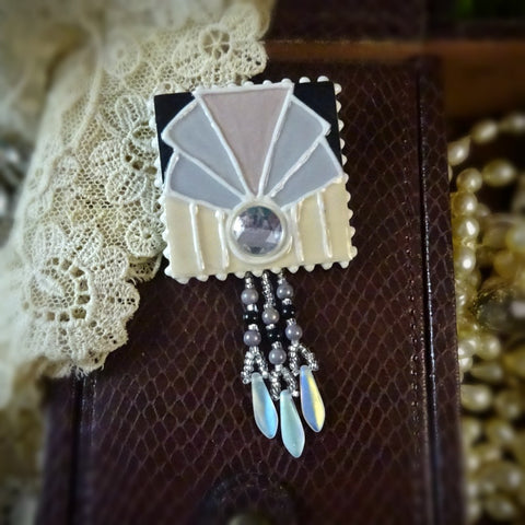 Art Deco Fan Pin