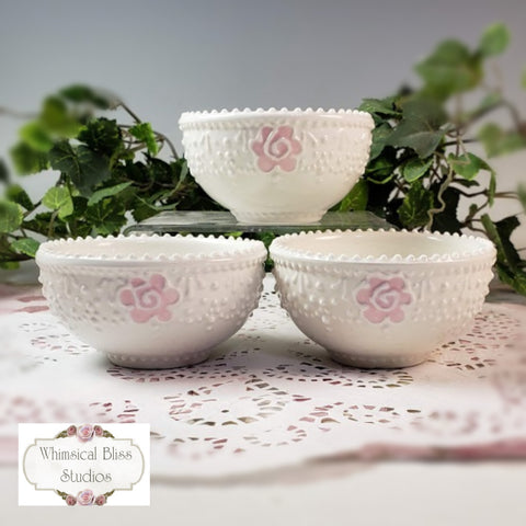 Elegant Lace Dipping Bowls
