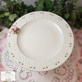 Lace & Roses Pedestal Plate