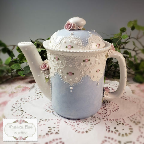 Exotic Blue Lace Teapot
