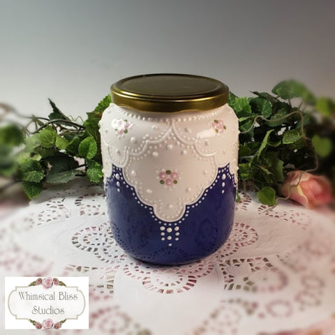 Delft Blue Lace Jar