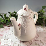Victorian Lace & Roses Teapot