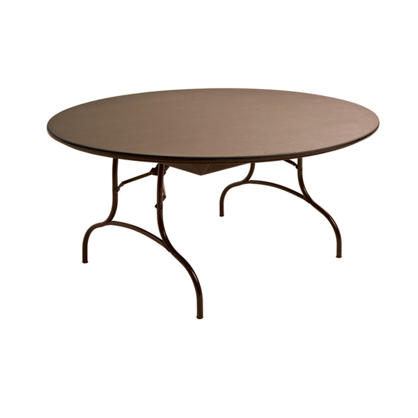"MityLite ABS Plastic 60"" Folding Table - Brown"