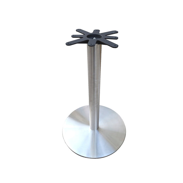 "28"" Table Round Base - 42"" Height - Stainless Steel"