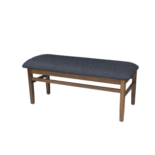 "Artemis 45"" Backless Bench, Upholstered, Coffee & Shire Merimac"