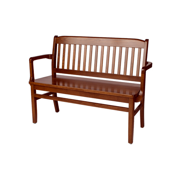 "Artemis 45"" Bench with Arms (Pecan)"
