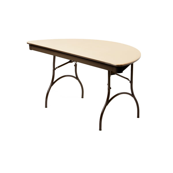 Enjoyable Mitylite Abs Plastic 60 Half Round Folding Table Gmtry Best Dining Table And Chair Ideas Images Gmtryco