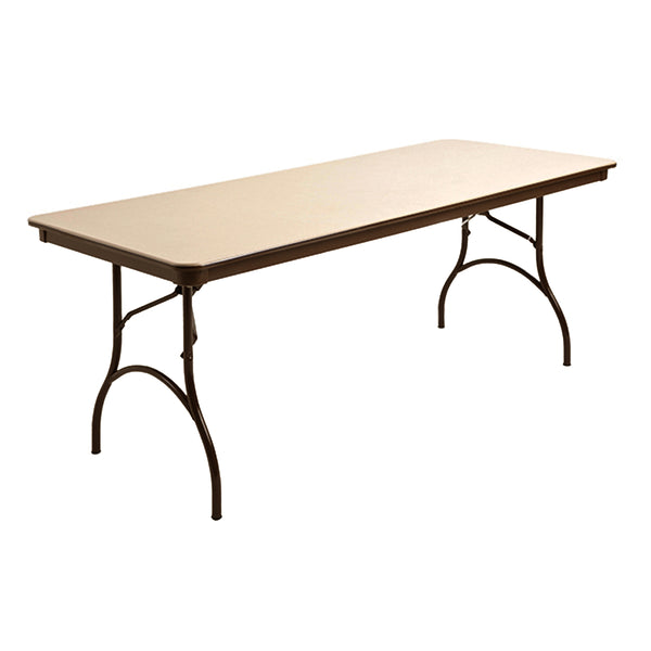 "MityLite ABS Plastic 30""x72"" Folding Table - Beige"