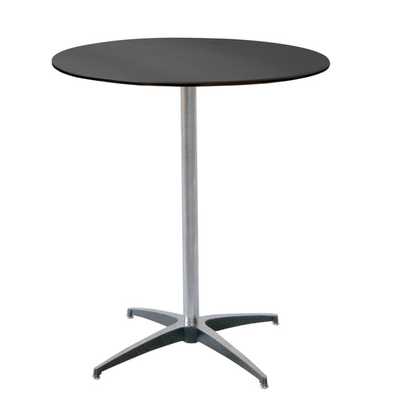 "MityLite ABS Plastic 30"" Cocktail Table w/ 42"" Tall Detachable Leg"