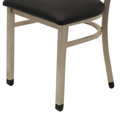 Table Height Chair Black Vinyl