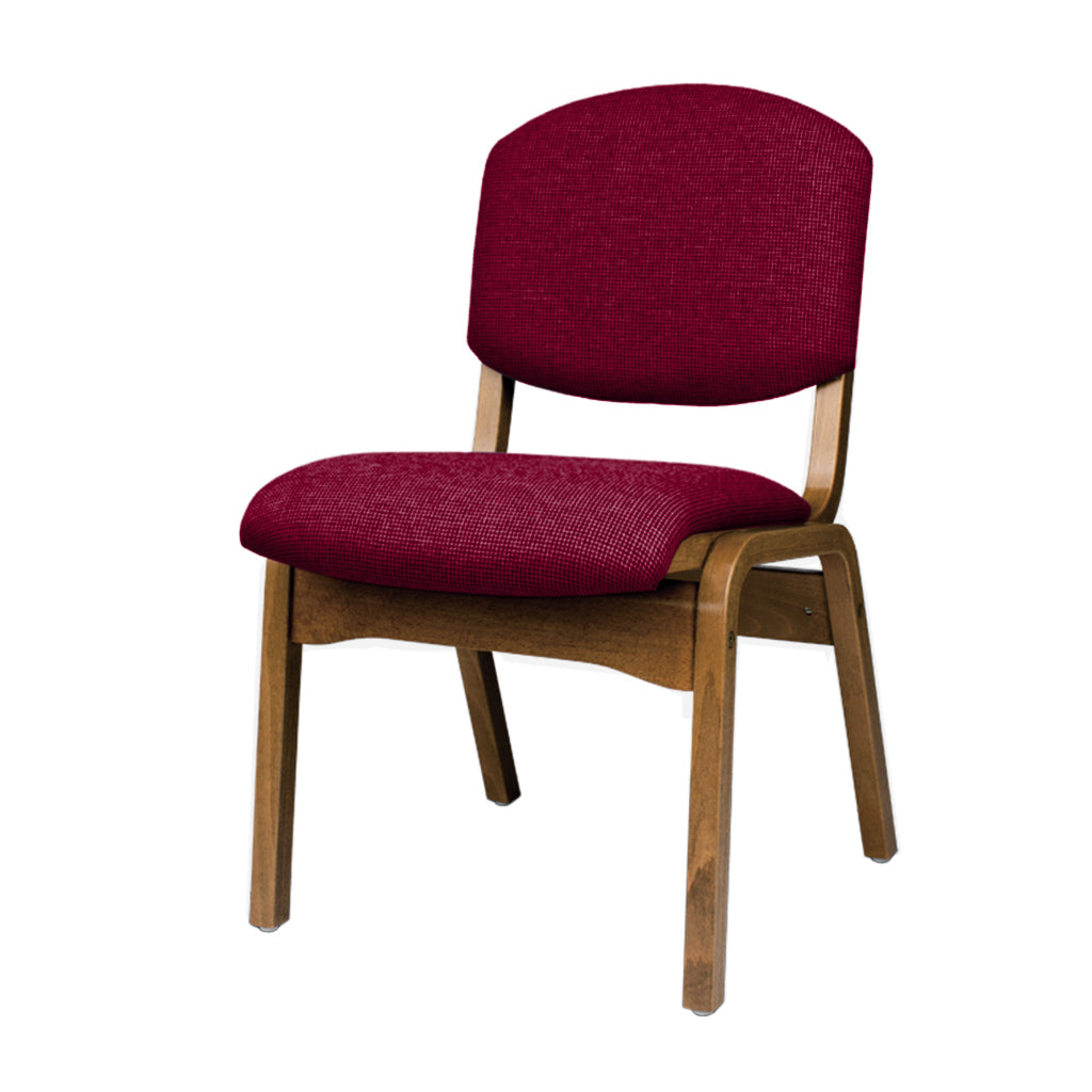 Minerva Side Chair (Oak & Sherpa Cardinal)