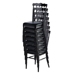 Aluminum Napoleon Stacking Chair - Stacked