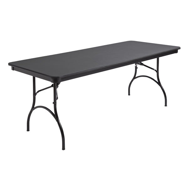 "MityLite ABS Plastic 30""x72"" Folding Table - Black"