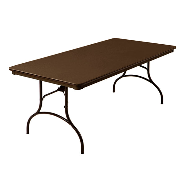 "MityLite ABS Plastic 36""x72"" Folding Table - Brown"